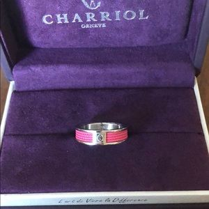 Charriol Forever band in pink NIB